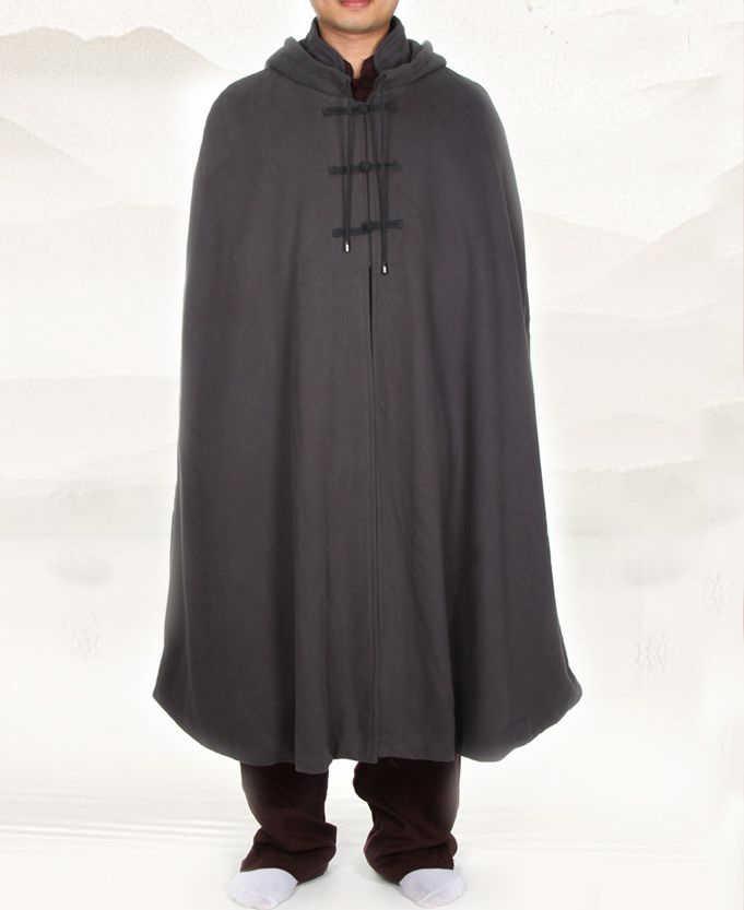 4 цвета унисекс плащ для медитации теплый утолщение хлопок буддийские монашеские костюмы халат зимняя накидка пальто одежда серый/красный/коричневый