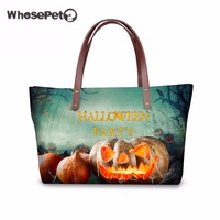WHOSEPET Women Bag for Halloween Fashion Shoulder Bag Girls Female Punmpkin Printing Cool Bolsas Femininas Travel Tote Wholesale