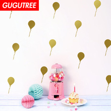 Decorate Home gold black balloons cartoon art wall sticker decoration Decals mural painting Removable Decor Wallpaper LF-2256