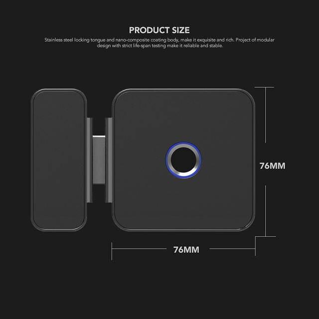 US $195 71 | Xiaomi Sherlock Glass Door Lock G Fingerprint Keyless With  Bluetooth APP Remote Control For Office Door Electric Smart Lock-in Smart
