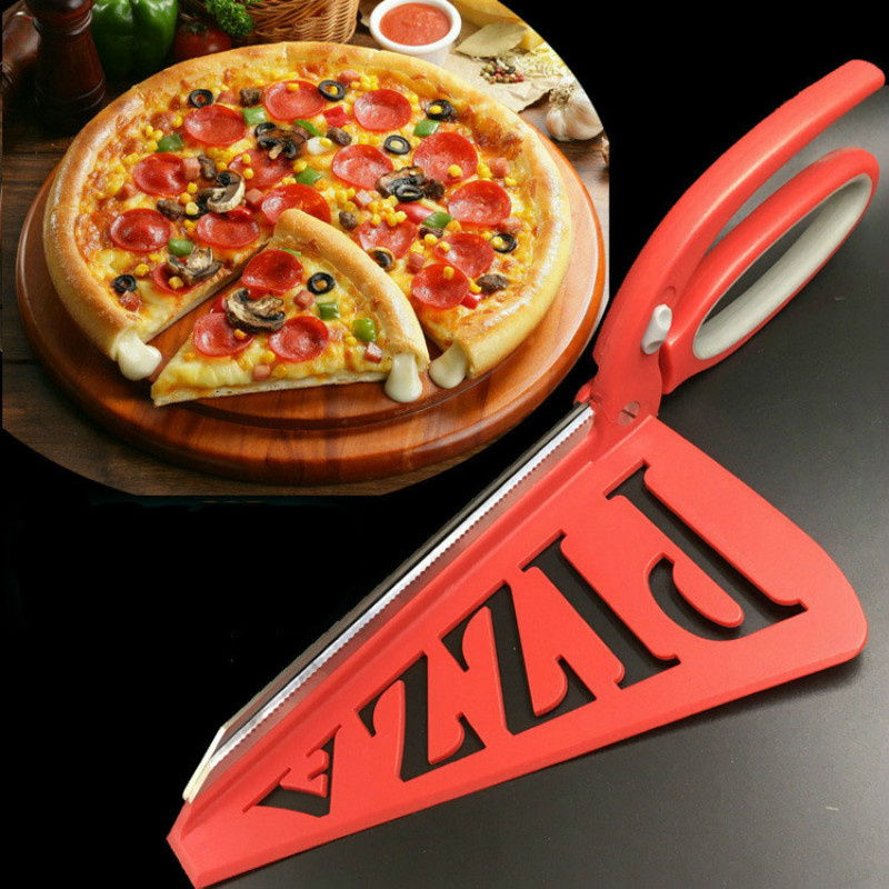 1Pc 33.5cm Professional Stainless Steel Large Pizza Scissors Bread Knife Non-stick Soft...
