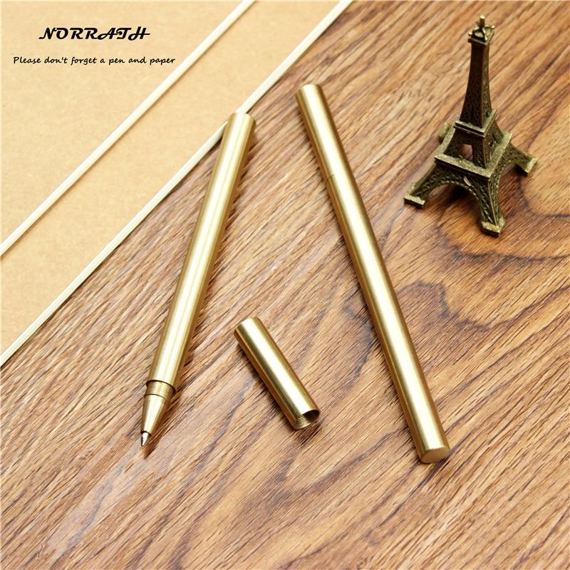 Vintage ainutlaatuinen kuulakärkikynä kultainen käsintehty kiiltävä messinki kuparigeeli kynä kynälaukulla lahjatoimisto koulu paperitavaratarvikkeet