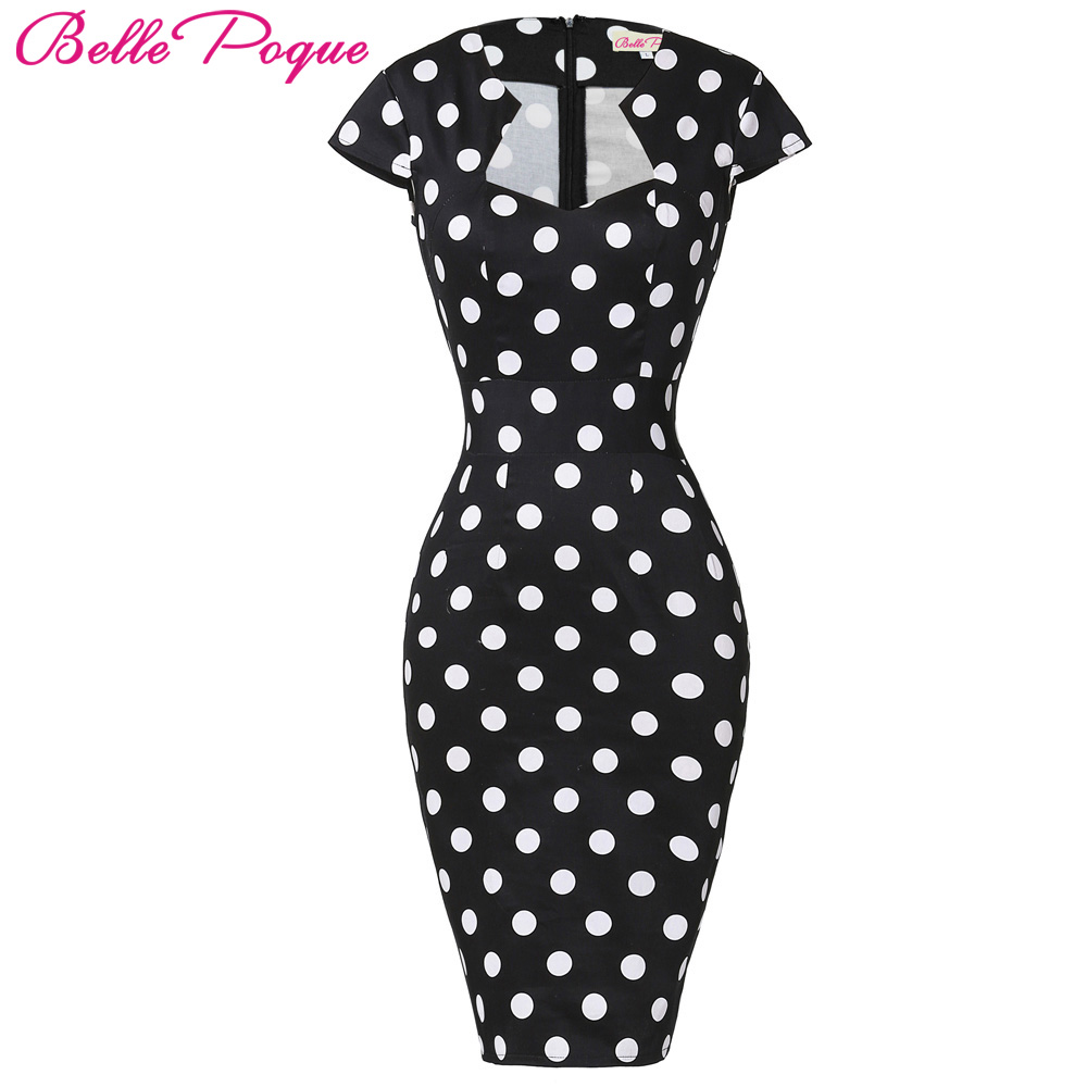 af75b96efe Sexy Slim Women Summer Dress 2018 Bodycon Pencil Dresses Cotton Plus Size  3XL Wiggle Vintage 50s