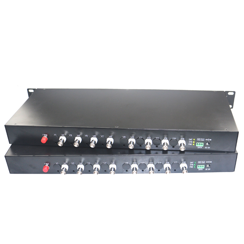1080P HD CVI AHD TVI 8 Channel Video Fiber Optic Optical Media Converters - For 1080p 96 ...