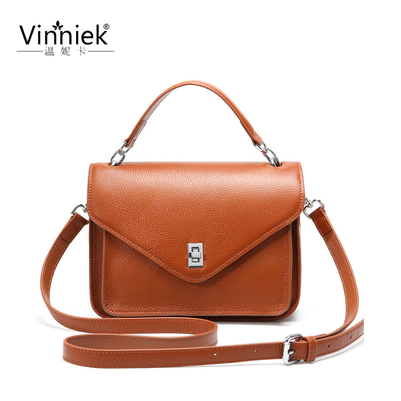 Summer New Genuine leather ladies handbag retro slung small square bags female fashion cover solid color shoulder Messenger bagSummer New Genuine leather ladies handbag retro slung small square bags female fashion cover solid color shoulder Messenger bag