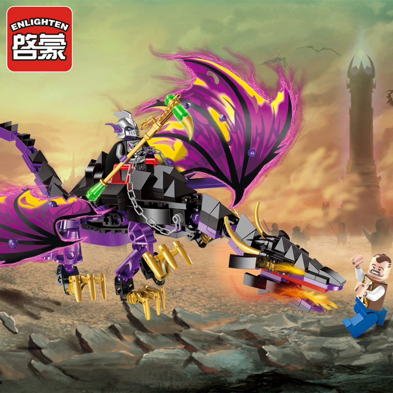 Enlighten Pirate Educational Building Blocks Dragon Toys For Children Kids Gifts Compatible with Legoe enlighten castle educational building blocks toys for children kids gifts horse knight king compatible with legoe