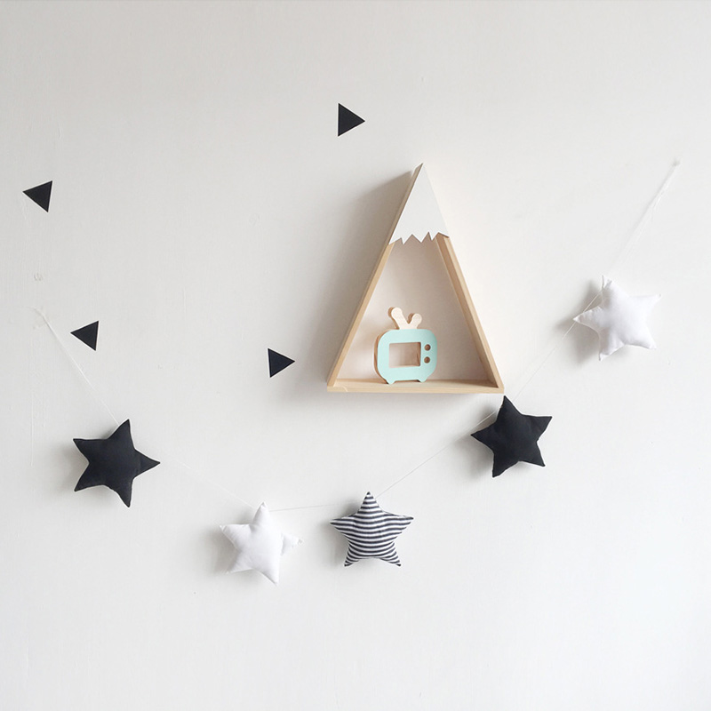 Us 7 87 31 Off Nordic Style Baby Room Crib Ornament Handmade Nursery Decor Star Garland Kids Play Tent Adornment Hanging Wall Decoration In Wind