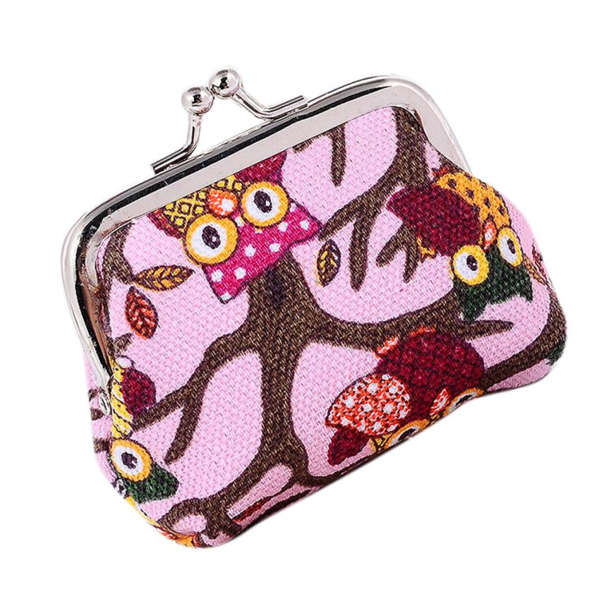 womens Wallets Lovely Style Lady Owl Purse female Small Hasp Wallet carteira feminina#XTJ