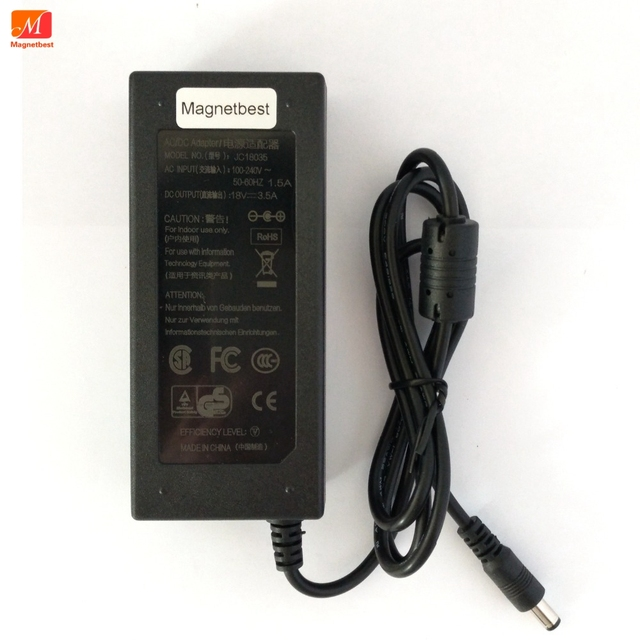 18V 3.5A AC  Adaptor 18V3.5A 63W Switching Power Supply Adapter Charger DC 5.5*2.5/5.5*2.1 mm