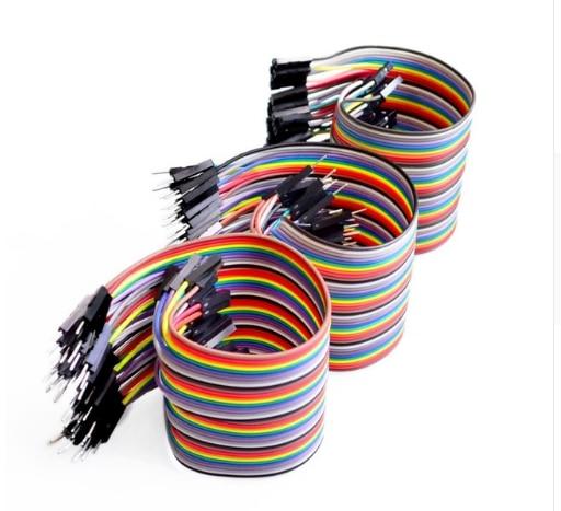 40 pièces 20 cm 2.54mm 1 p-1 p Pin femelle à femelle mâle à femelle mâle à mâle couleur platine de prototypage câble saut fil Jumper