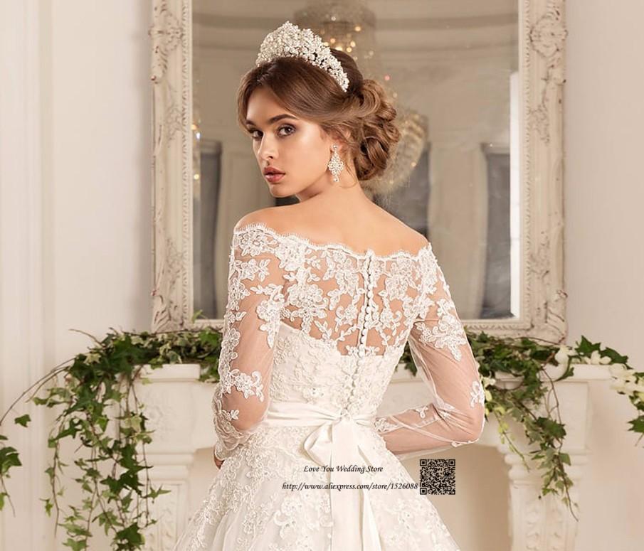 Western Country Turkey Boho Wedding Dress Long Sleeve Lace Bridal Dresses  Vestido de Noiva Princesa Wedding Gowns Louisvuigon 8a384ae39696