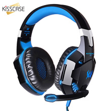 Get more info on the KISSCASE Cool Wired Headphone Game Music Stereo Headphone Foldable Adjustable Earphone With Microphone For Game PC MP3 Headset