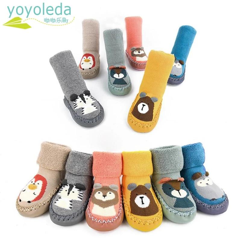 Baby Infant Toddler Boys Girls Anti-slip Shoe Walking Learning Floor Socks