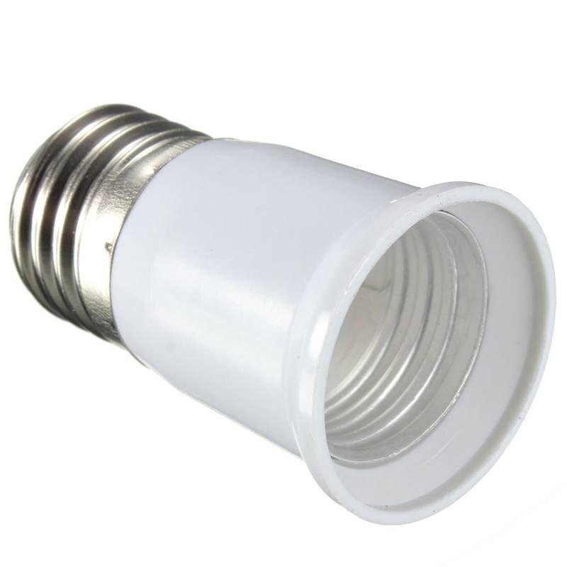 E27 To E27 Lamp Base Adapter Light Bulb Extend Lamp Holder Screw Socket Adapter Converter 110-250V White
