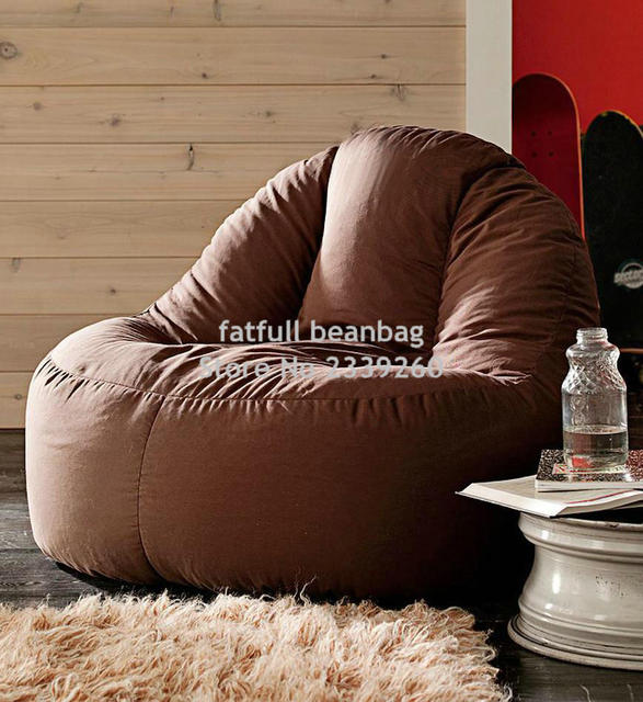 US $55.0 |Solo copertina No Filler Brown divano sacchetto di fagioli sedia  outdoor sedile schienale alto sedia da giardino patio sedie mobili divano  ...