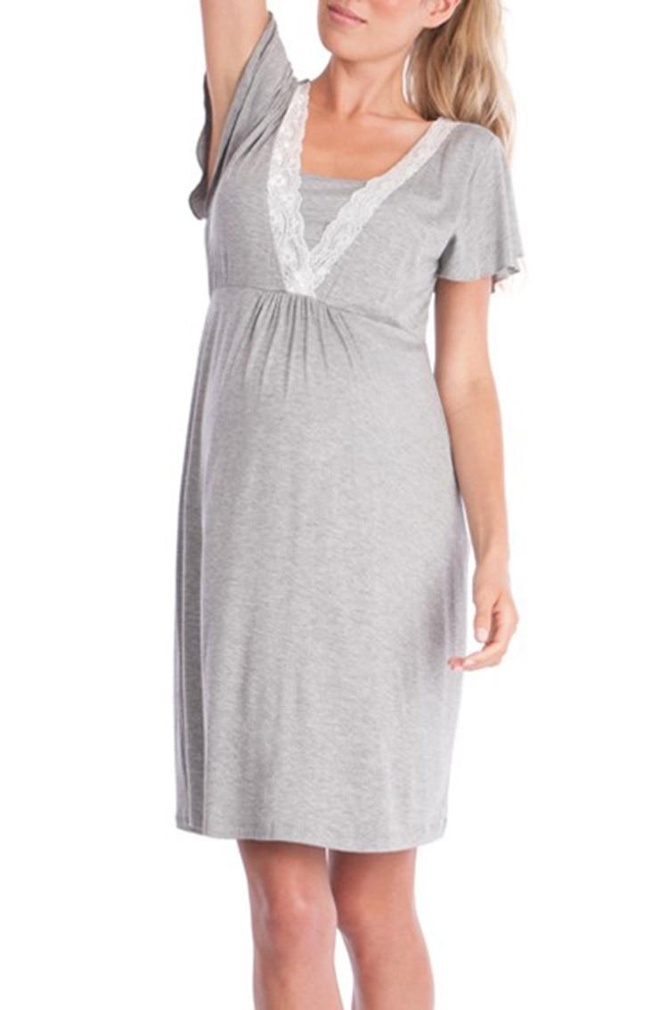 f6240835e ... camisón elegante maternidad ropa de enfermería vestido.  36020181015171121159 HTB10gs3iStYBeNjSspkq6zU8VXa9.  HTB1BRcMcb3nBKNjSZFMq6yUSFXaF