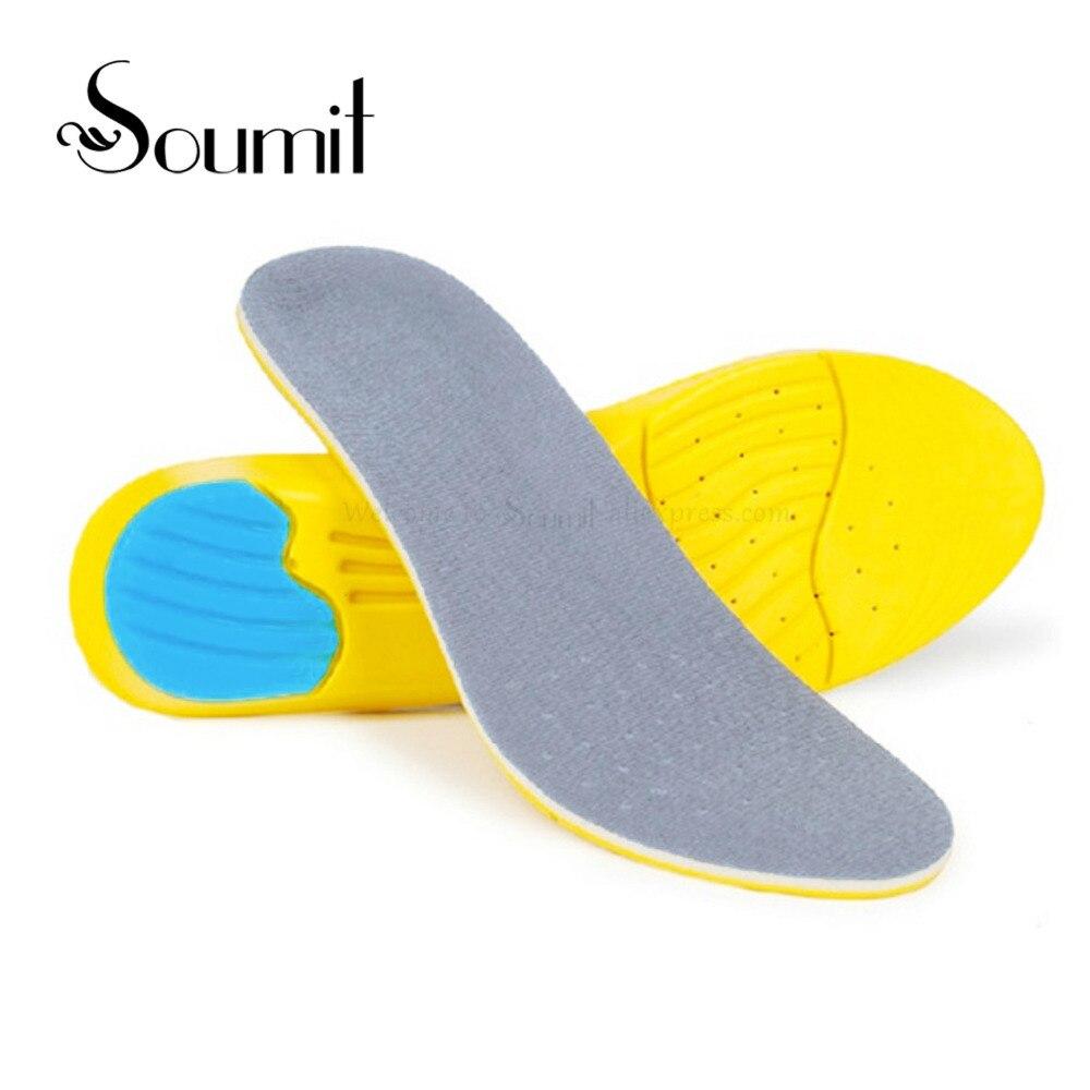 Soumit alta calidad deporte plantillas Running calzado transpirable absorción de choque plantilla plantillas para hombres mujeres cuidado de los pies de expertos