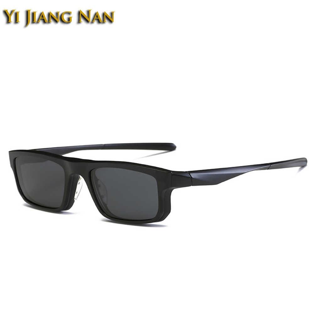 d258ead788 Yi Jiang Nan Brand Fashion Designer Eyeglasses Men Sport Style Frame  Sunglasses Polarized Magnet Clips for