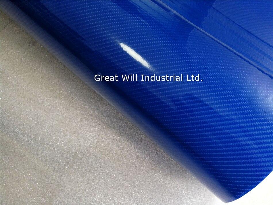 *3D Premium Matte Sky Blue Textured Carbon Fiber Car Vinyl Wrap Sticker Decal