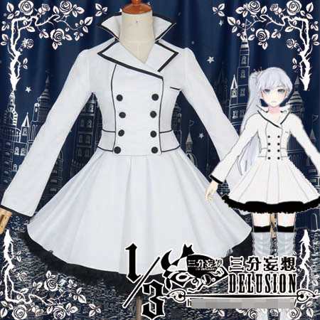 Yona's Magical Epidemic Crisis Hot-Sell-RWBY-White-Weiss-Schnee-Women-Cos-Anime-Party-Cosplay-Costume-Uniform-Fashion-Dress-Any