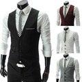 Camisola de algodão de venda tempo limitado de cetim Colete 2014 fino masculino v-neck Colete estilo britânico homens de roupas