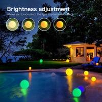 Led Outdoor solar lighting Ball light Waterproof RGB luminous lawn light Remote control floating ball lamp Pool yard 20 25CM