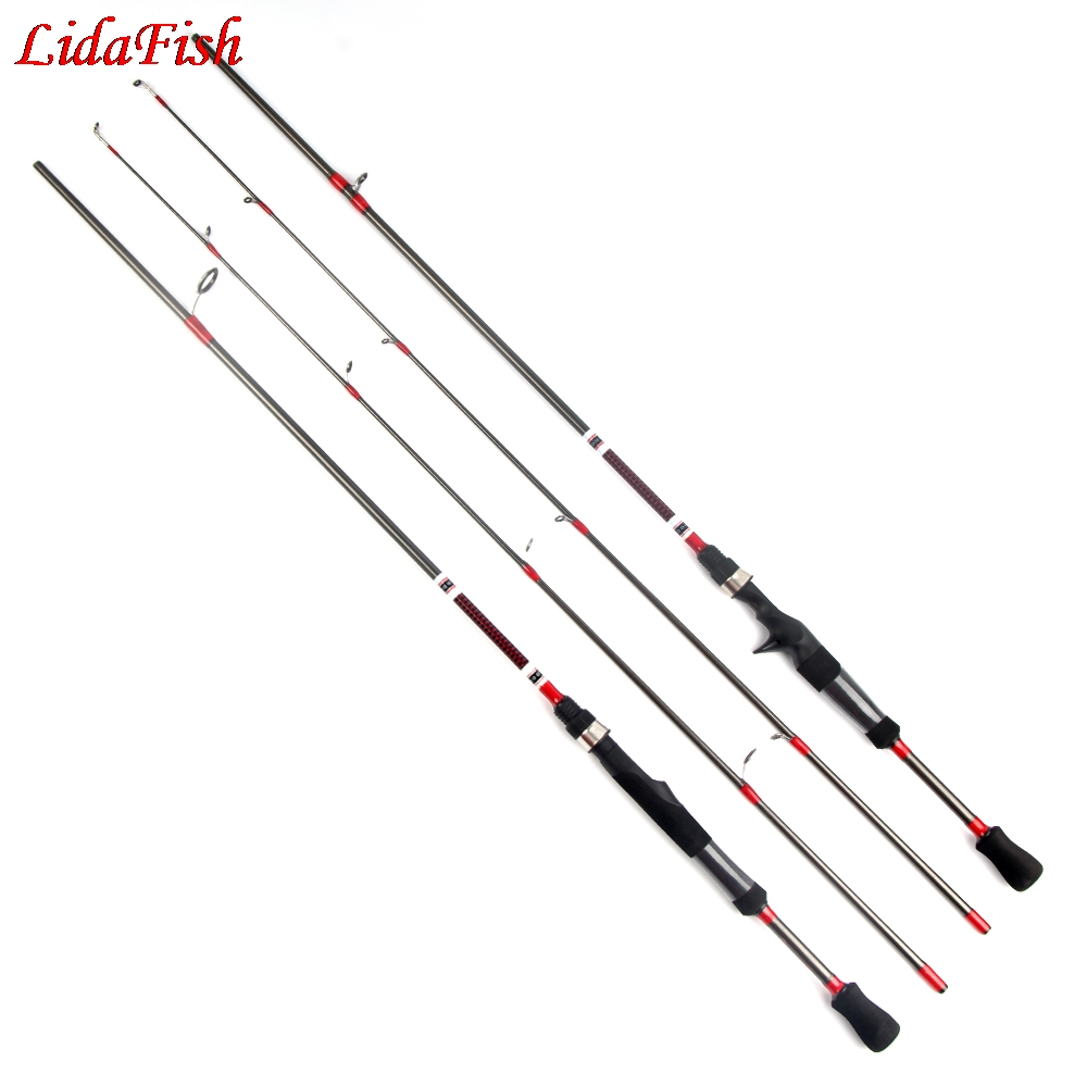 LidaFish 2019 1.8M Spinning Rod casting rod 3-21g Lure Weight 6-15lb Line Ultralight Carbon Lure Fishing Rod