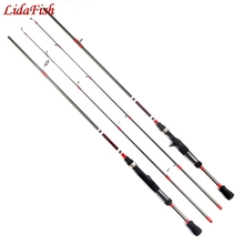 LidaFish 2019 1.8M Spinning Rod casting rod 3-21g Lure Weight 4-15lb Line Ultralight Carbon Lure Fishing Rod