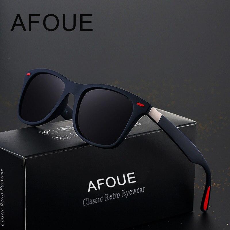 AFOUE MARKE DESIGN Polarisierte Sonnenbrille Frauen Quadratischen Rahmen Sonnenbrille Für Männer Vintage Retro Brille Brillen UV400 Gafas De Sol