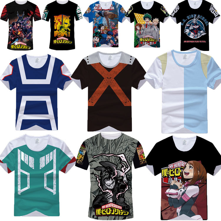 My Hero Academia Boku No Hero Academia Cosplay T shirt Izuku Midoriya Anime T-Shirt Top Tee Cosplay Costume For Adult Man/Woman
