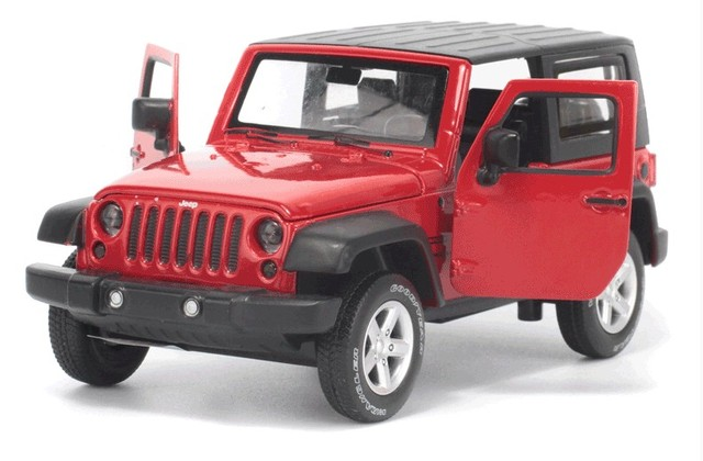 High Simulation Exquisite Model Toys Model  Wrangler Rubicon Vehicle Model 1:32 Alloy Car Model Collection