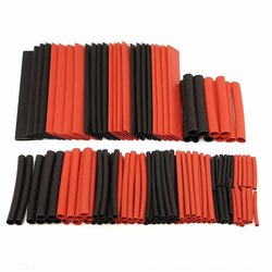 150pcs with plastic bag Shrinkage Ratio 2:1 Polyolefin Heat Shrink Tubing Tube Sleeving Drop ship Car Cable Sleeve Wrap Wire Kit