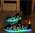 Chaussure Световой Light Up Люминесцентные Обувь Shuffle Моды для Мужчин Повседневная Обувь Красочные Обувь Любителей