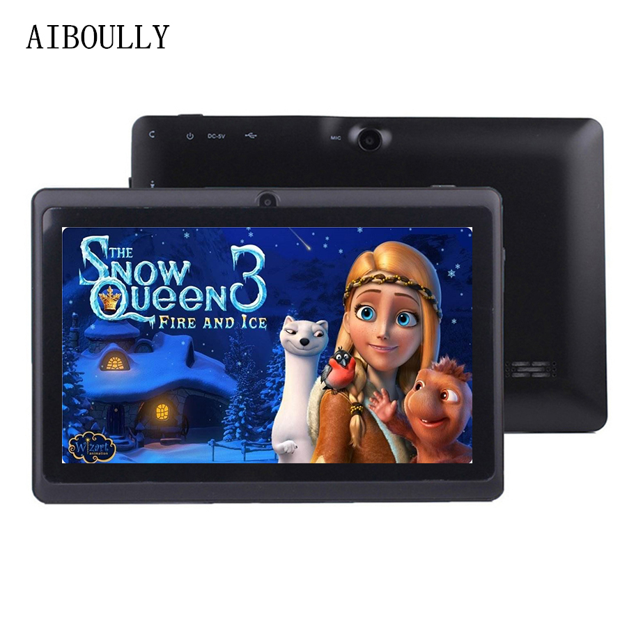 AIBOULLY Original WiFi Tablet 7 inch Android 6.0 Quad Core 1GB Ram Dual Camera 3000 mAh OTG Microphone 2018 Brand New 8 9.7 10''