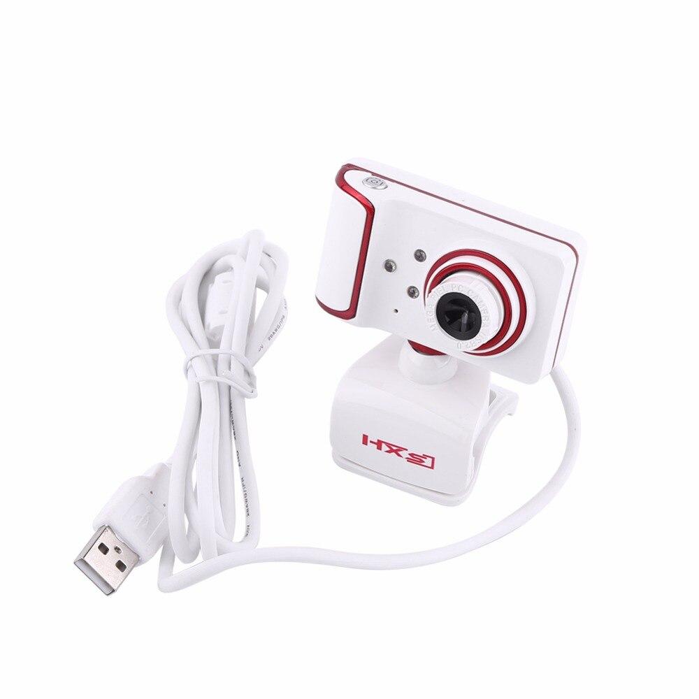 Hxsj S10 16 м Pixel HD веб-камера Clip-On 3 LED Поворотный веб-Камера для ПК компьютер белый + красный