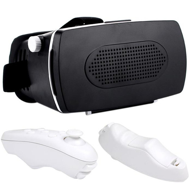 3D VR glasses New Google Cardboard VR BOX Virtual Reality 3D Glasses For  iPhone 6S/6S Plus + Remote Control NEW HOT JAN4