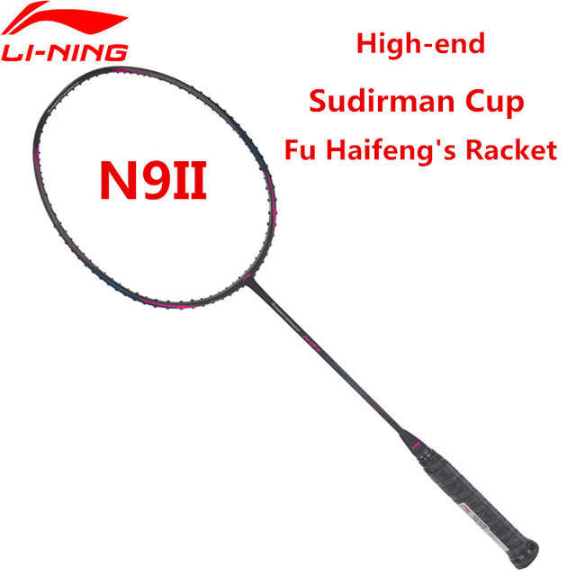 Li-Ning Turbo Charging N9 II Badminton Rackets Single Racket Professional Equipment Carbon Fiber LiNing Rackets AYPL178