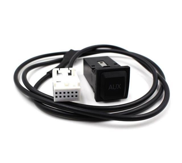 Adaptador de entrada aux carro interruptor e cabo wrie para volkswagen vw GOLF JETTA MK5 MK6 RNS510 RCD510 5KD 035 724 Um 5KD035724A