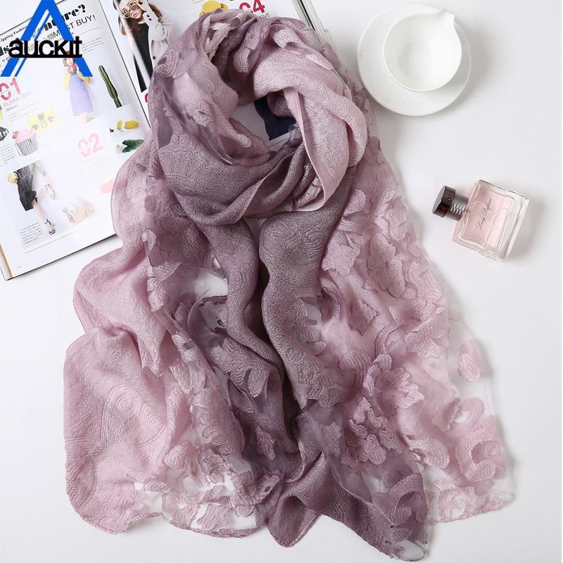 Reliance Spring Autumn Scarves Shawl Gradient Silk scarf