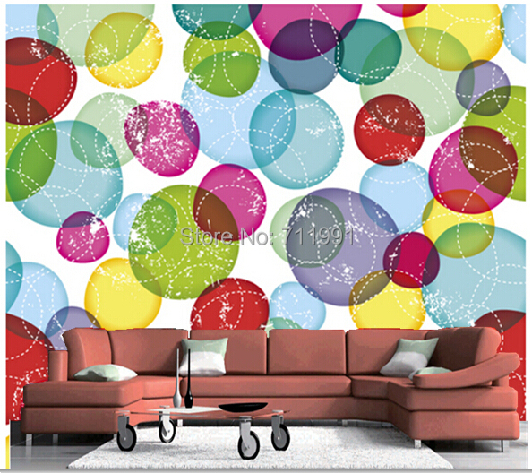 Free Shipping Custom Murals Round Bubbles Kids Pattern Modern 3D Wall Mural Wallpaper In Wallpapers From Home Improvement On Aliexpress