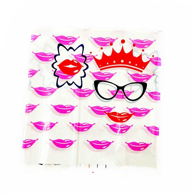 Disposable Tablecloth Ms Red lips Mouth Crown Glasses Girl Baby shower Birthday Party Wedding Decoration Supplies Table cover