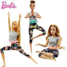 Yoga Barbie Brand Original dolls 2019 Move Set Sport All 22 Joints Doll Birthdays Girl Gifts For Kids Boneca toys for children