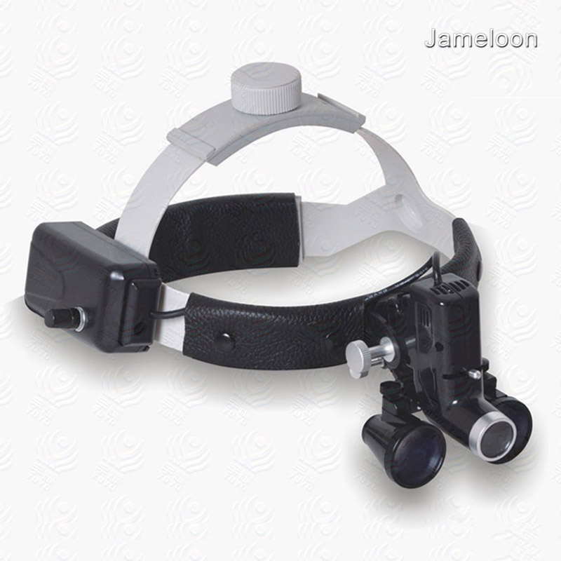 3 5X surgical medical magnifier high intensity led light dental headlight headlamp magnifying lens ENT surgery operation loupe