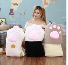 Cartoon sleeping pillow cat paws ultra-soft long pillow Korean lazy cute birthday gift girlfriend