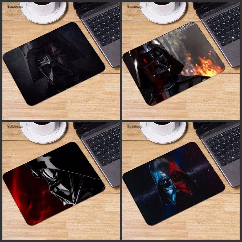 Yuzuoan Звездных Войн Computer Мышь игровой коврик Мышь колодки украсить ваш стол резиновым небуксующий без оверлок края размеры для 18*22 см