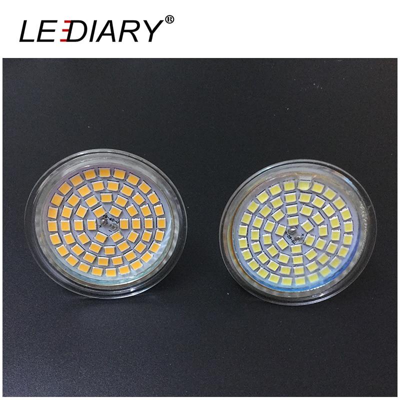 High Quality LED Spot Bulb JCDR GU5.3 MR16 2835 40led/60led 220-240V Glass Housing LED Energy Saving Lamp <font><b>Cup</b></font> Shape Spots <font><b>Light</b></font>