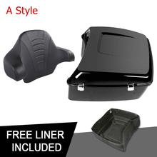 Motorcycle King Tour Pak Pack Trunk + Backrest For Harley Touring Road King Road Glide Street Glide 2014-2019 motorcycle tour pak rear speaker for harley touring street glide road king 2014 2015 2016 2017 page 1