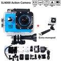 Free shiping hero 3 style sj4000 melhor câmera de venda 30 m à prova d' água 1080 P Full HD DVR Esporte action Camera + Monopé Hot style