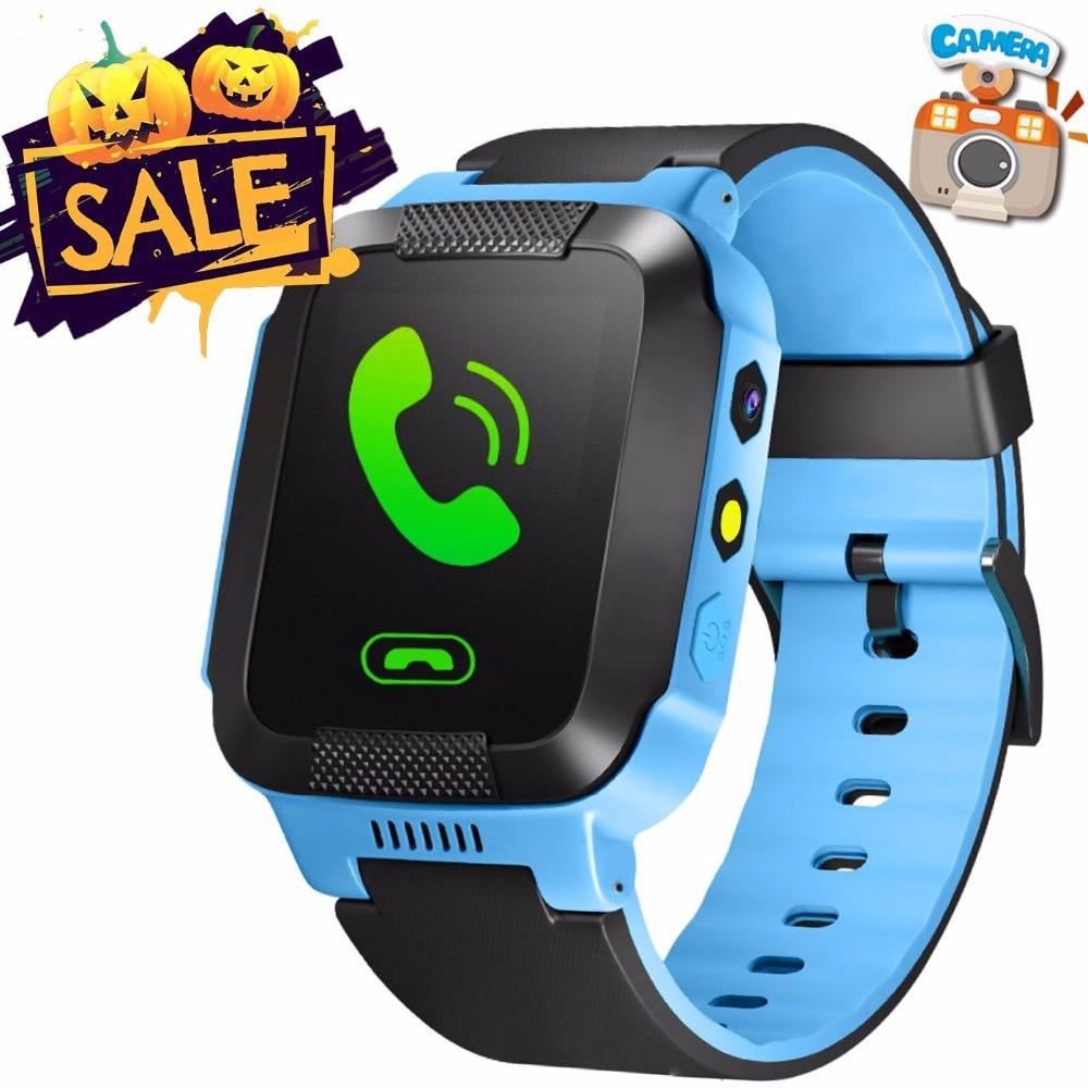 Дети GPS Smart часы для детей подарки телефона местоположение трекера Камера освещение анти-lost SOS для Iphone, Android телефон