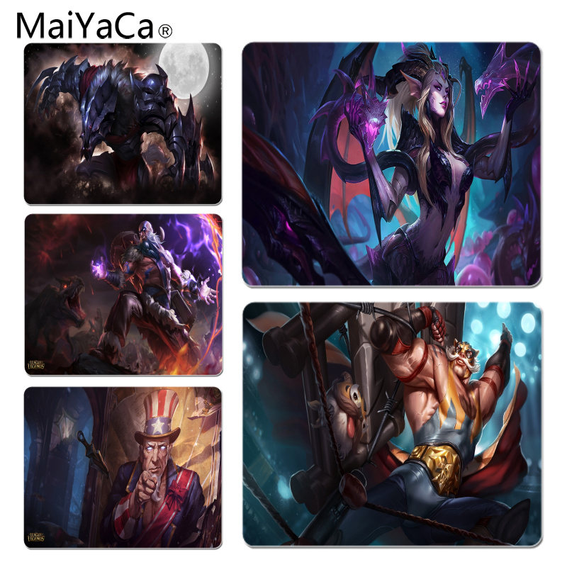 MaiYaCa Personalized Cool Dragon Sorceress Zyra Durable Rubber Mouse Mat Pad Size for 180*220*2mm and 250*290*2mm Mousepad